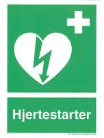Hjertestarter skilt